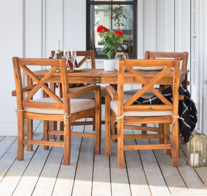Wood Patio Dining Set Design