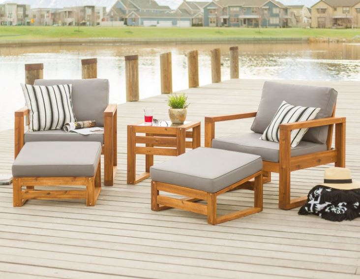 Traditional Side Patio Set
