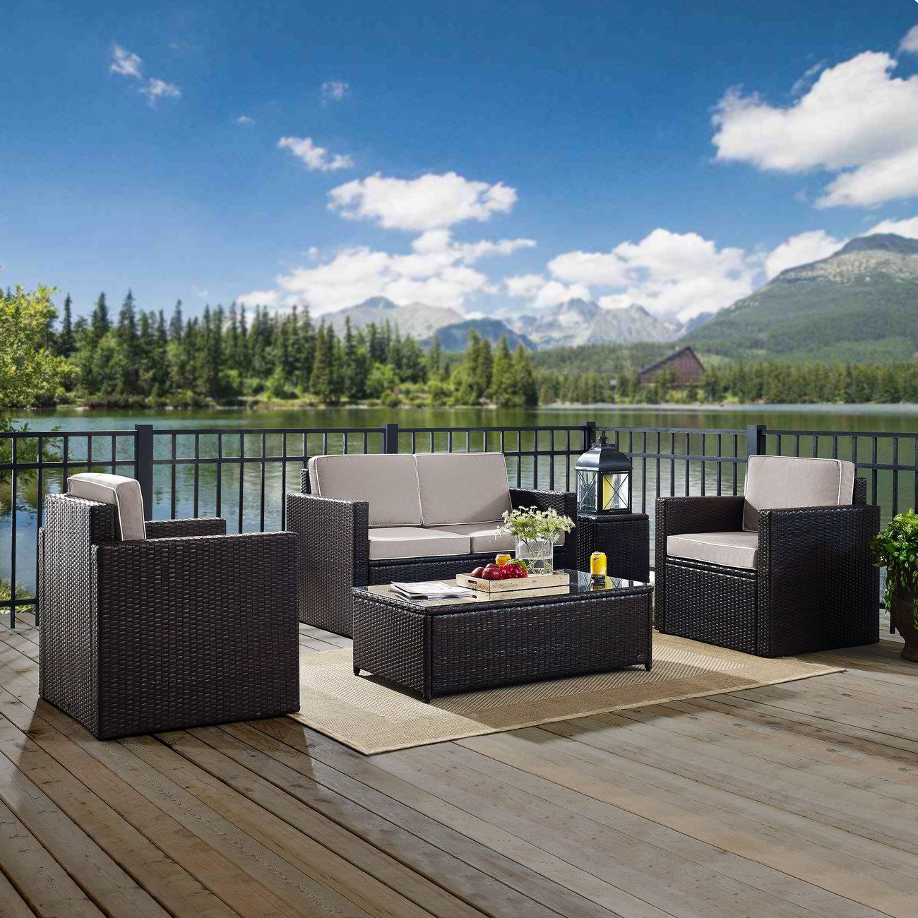 Crosley Brands Furniture Conversation Set Outdoor Wicker Photo