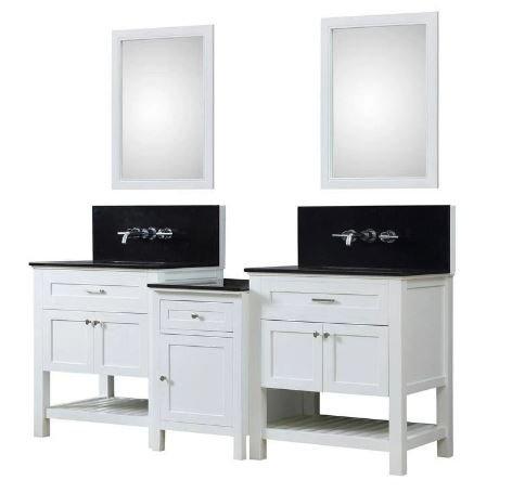 J J Spa Premium Bath Makeup Hybrid Vanity White Granite