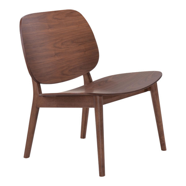 Zuo Priest Lounge Chair Walnut