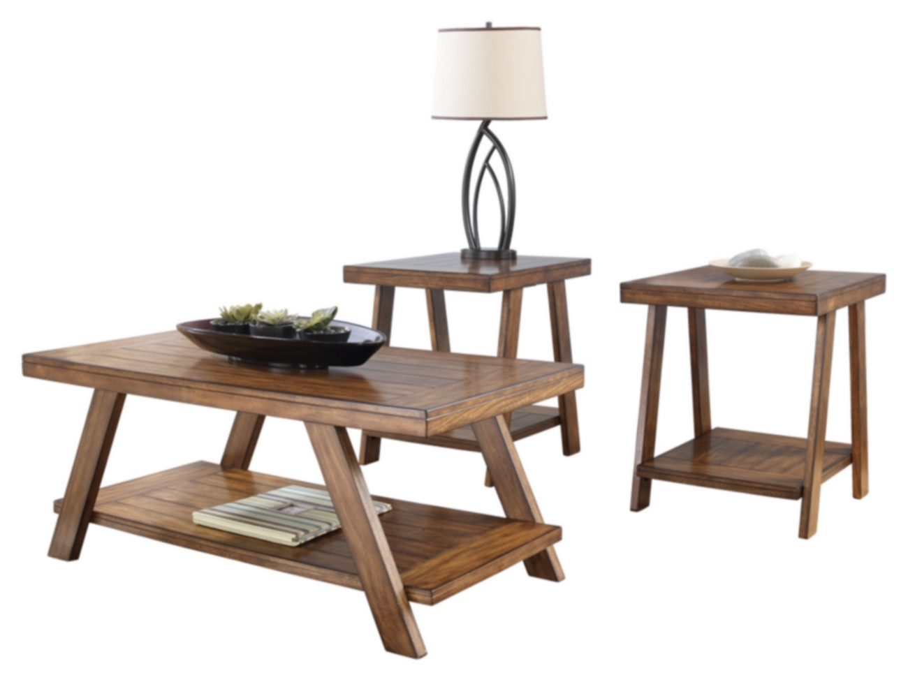 Signature Design Bradley Occasional 3 Pc Table Set Ashley Furniture T392 13
