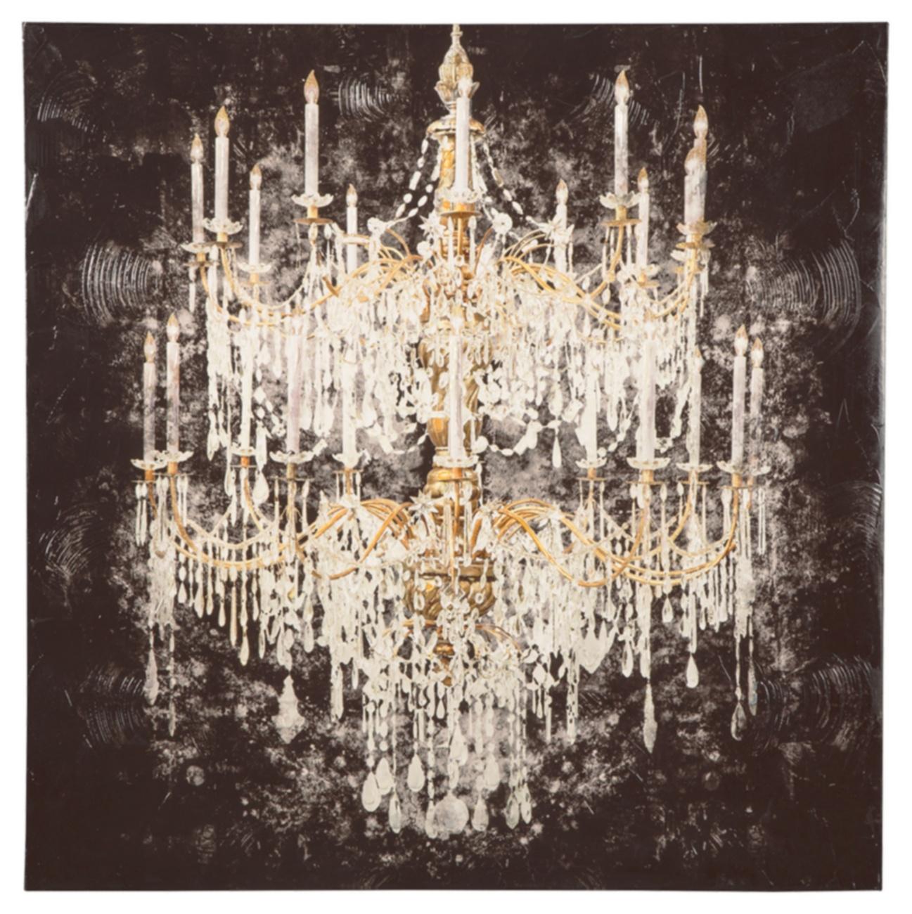 Devlan Wall Art Contemporary Glam Set of Five Ashley Furniture Signature Design Gold Finish//White