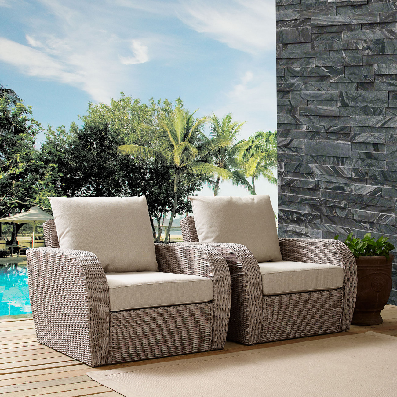 Cushion   Outdoor   Chair   Seat   Set   St