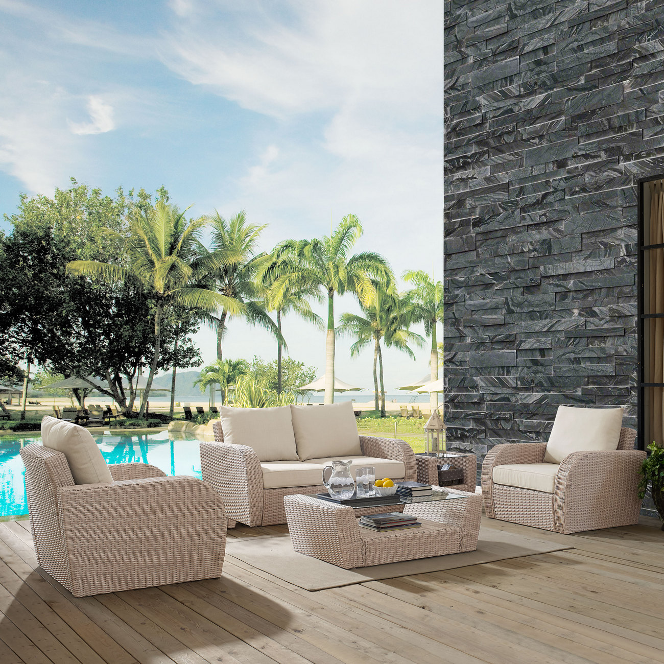 Cushion | Outdoor | Coffee | Table | Seat | Set | St