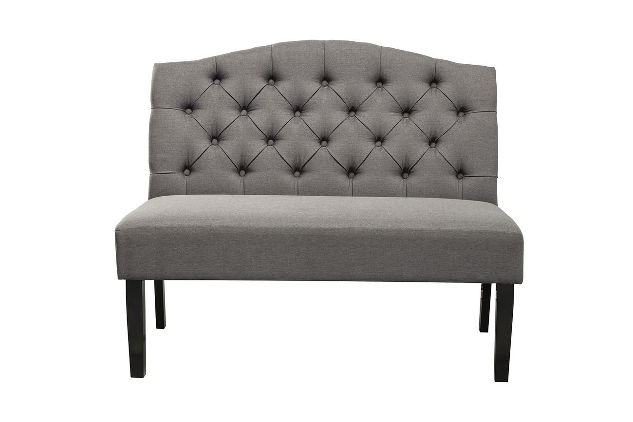 Swan Upholstered Bench w/ Back - Alpine Furniture LW-272