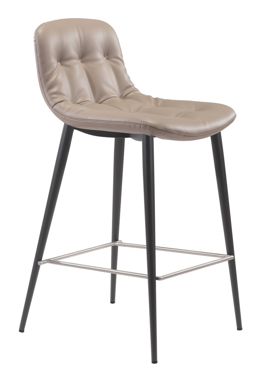 Zuo Tangiers Counter Chair Taupe