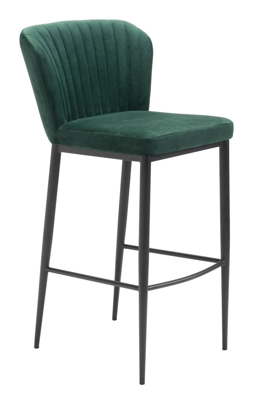 Zuo Bar Chair Green Velvet