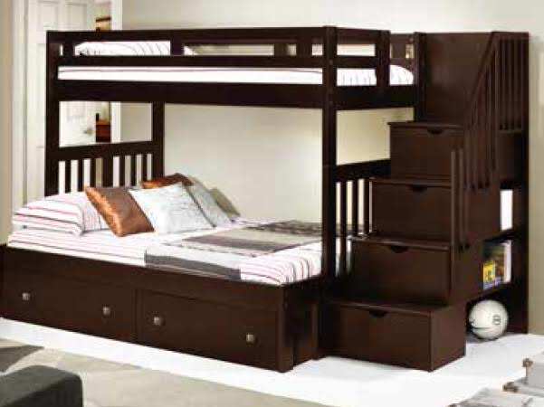 Donco Kids Twin Tall Stairway Bunkbed