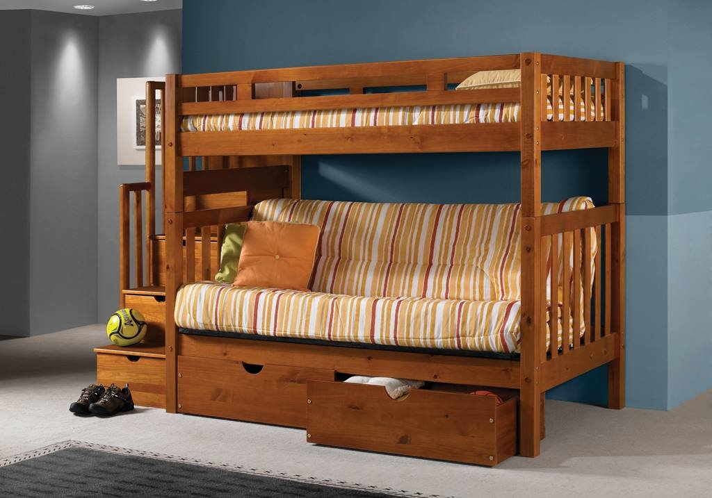 Twin Futon Tall Bunkbed