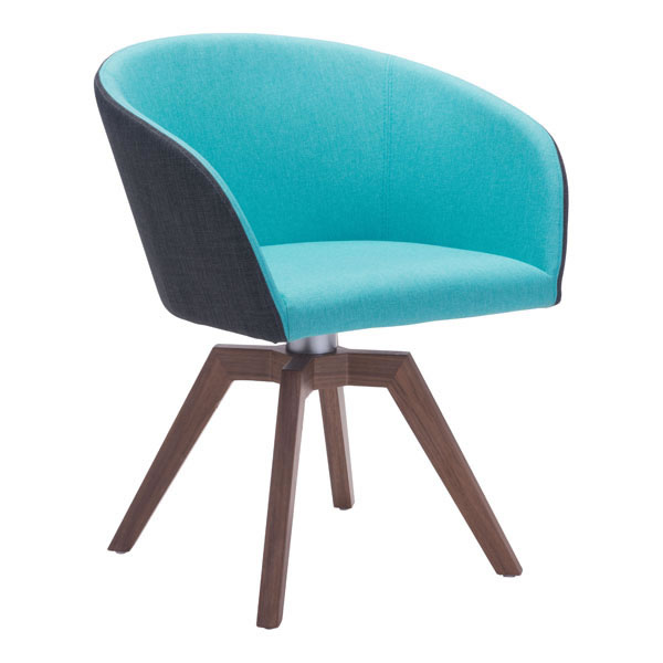 Zuo Wander Swivel Dining Chair Blue Gray