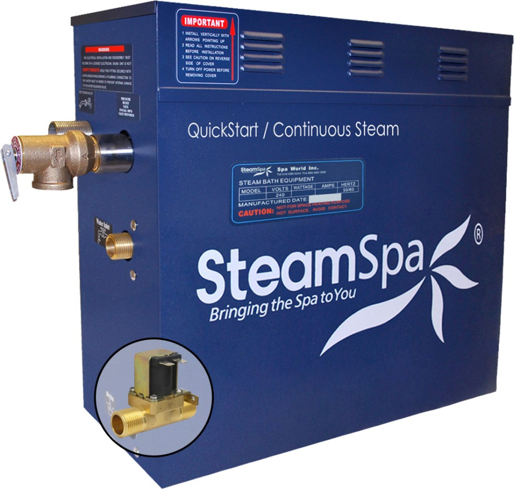 12 KW QuickStart Acu-Steam Bath Generator w/ Built-in Auto Drain - SteamSpa D-1200-A