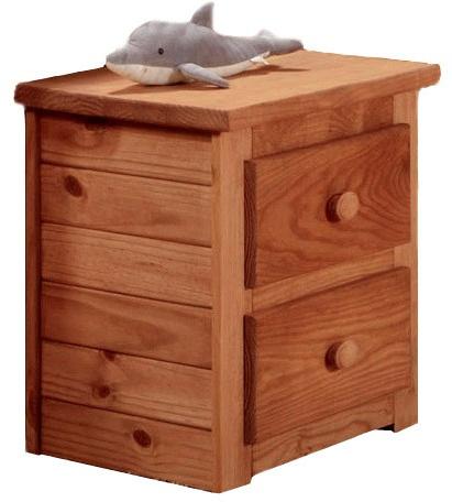 2 Drawer Nightstand Mahogany Stain - Chelsea Home Furniture 31002