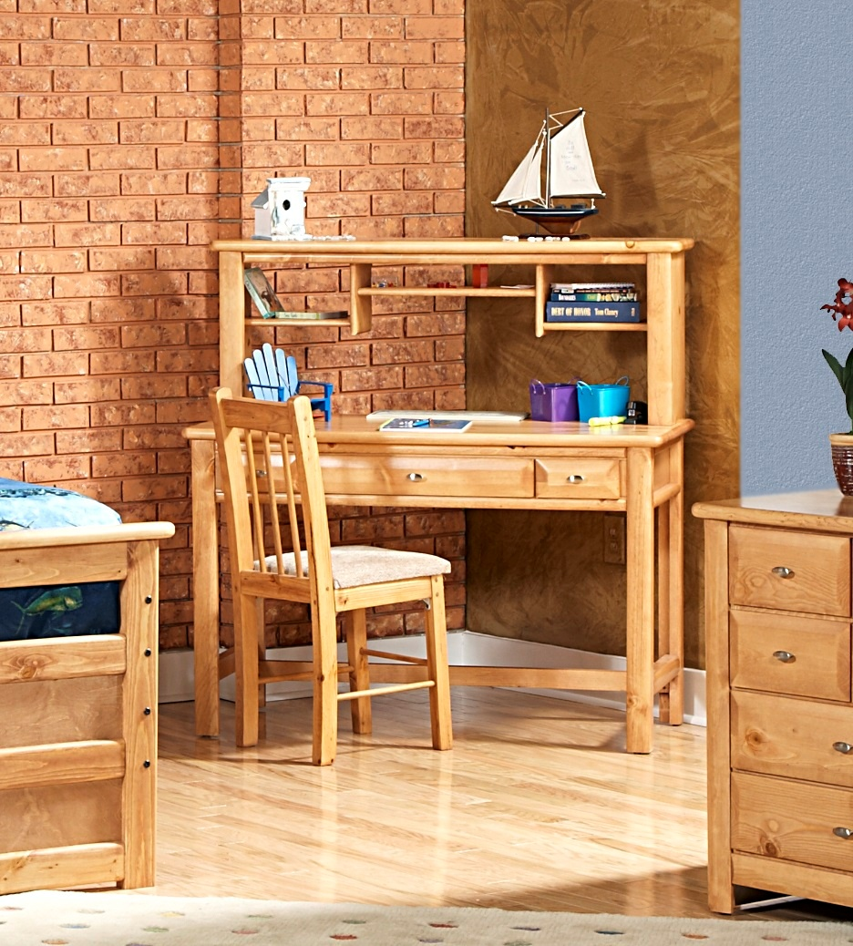 Chelsea Home Drawer Student Desk Hutch Caramel