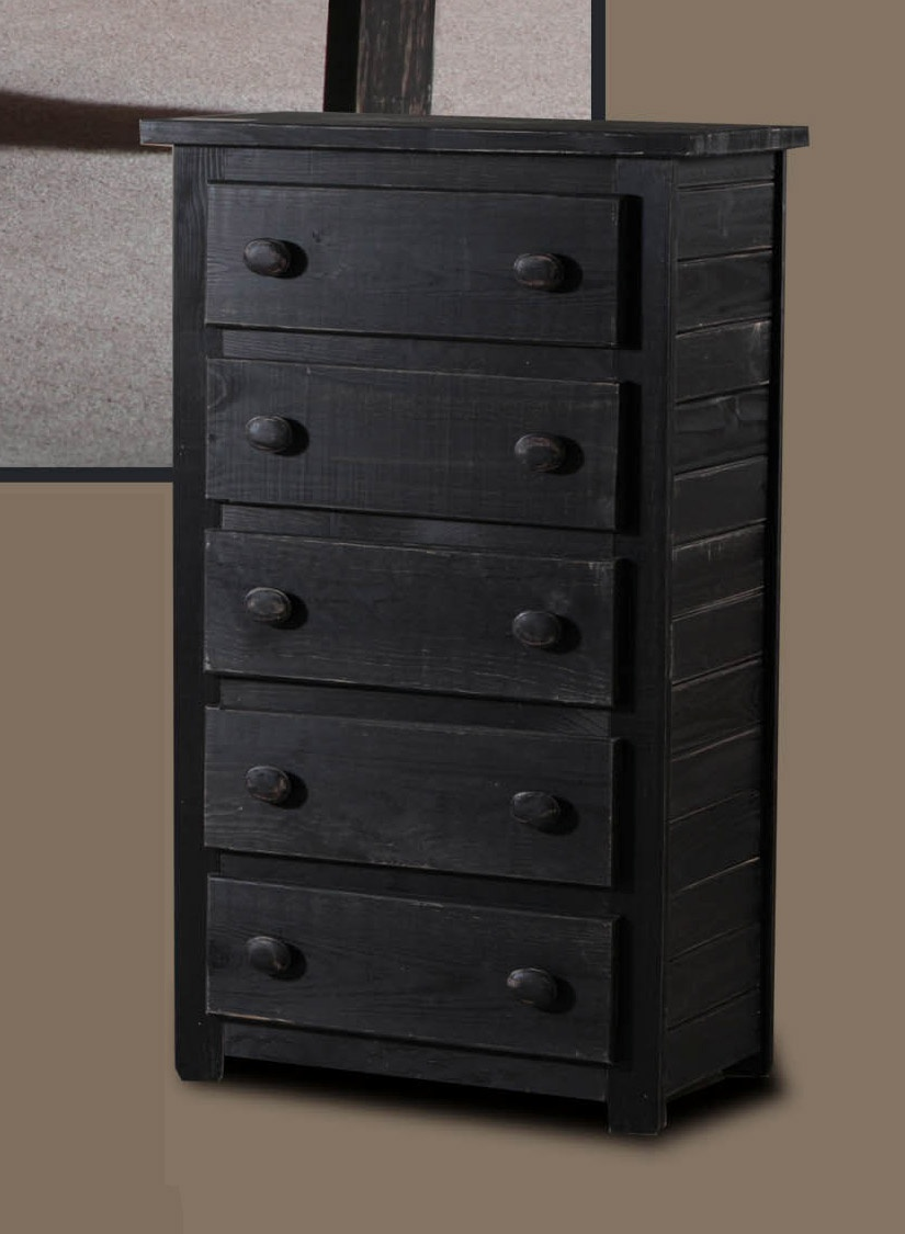 Chelsea Home Drawer Chest Black Distressed