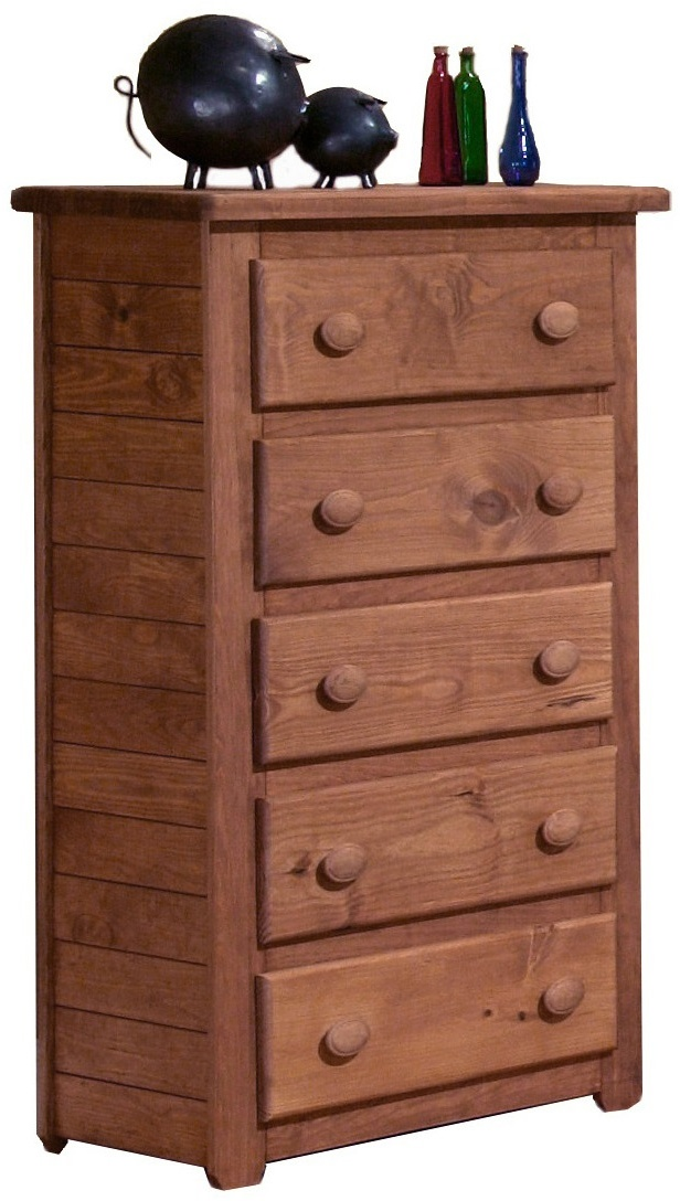 5 Drawer Chest in Mahogany Stain - Chelsea Home Furniture 31005