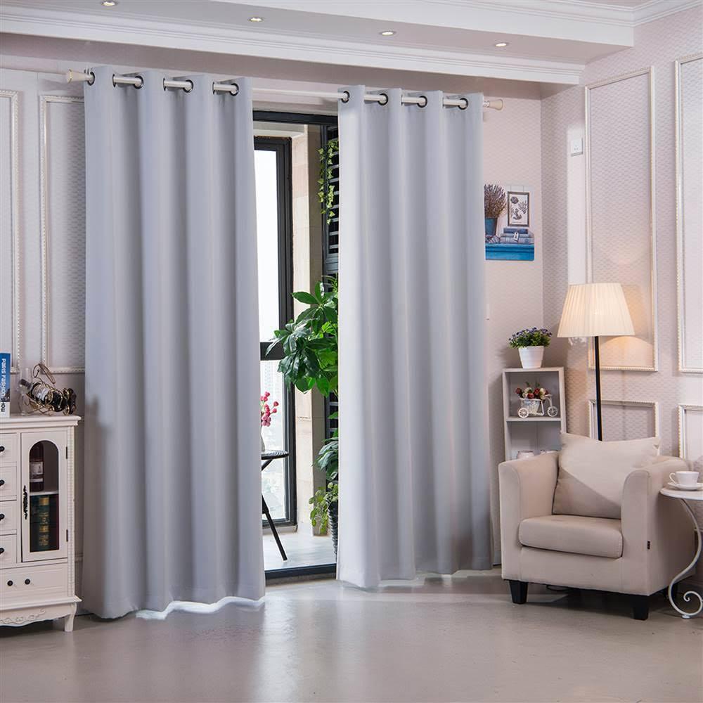 Blackout | Thermal | Elegant | Fashion | Window | Cloud | Solid | Grey | Home