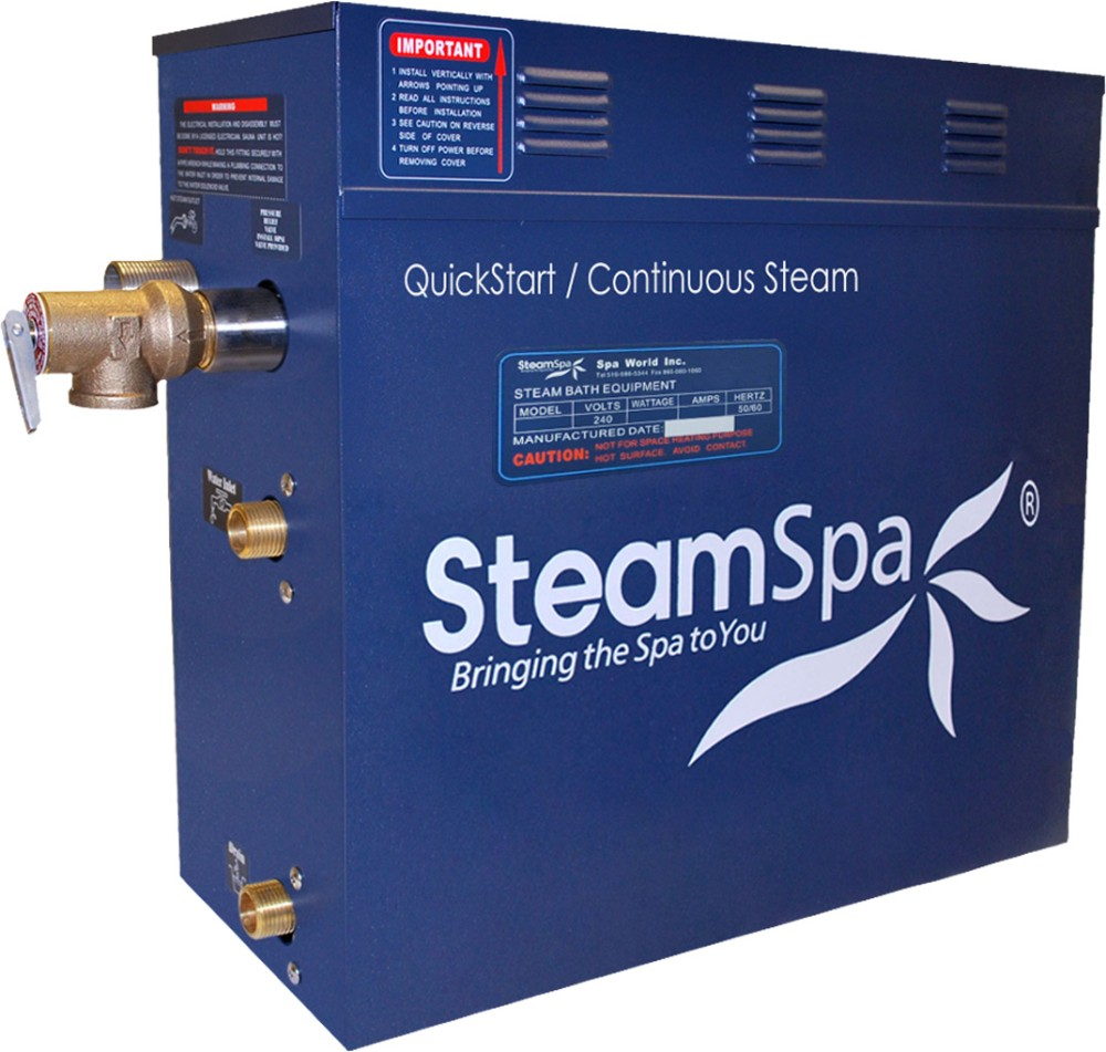 7.5 KW QuickStart Acu-Steam Bath Generator - SteamSpa D-750