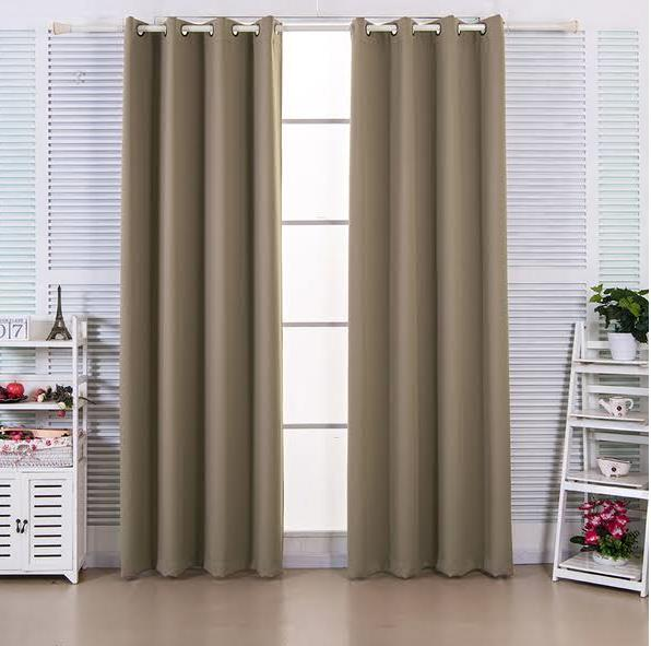 """84"""" Ephesus Premium Solid Insulated Thermal Blackout Grommet Window Panels in Sepia Brown - Elegant Home Fashions WC-CHB10-84"""