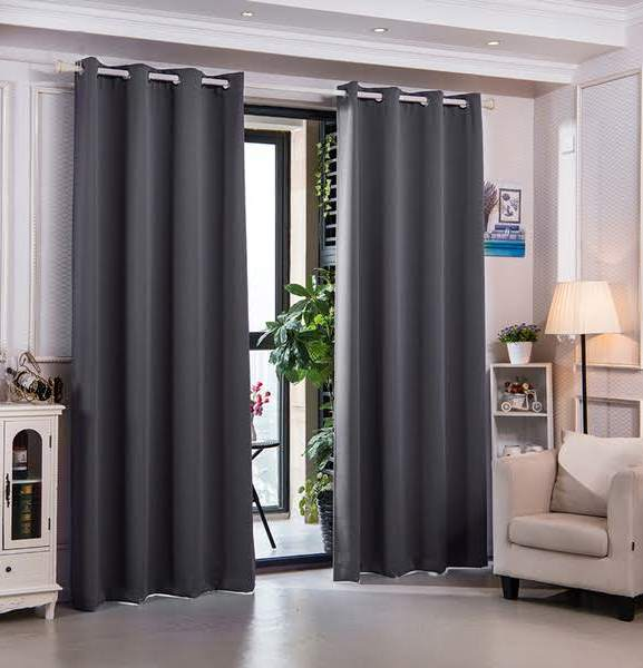"""96"""" Sparta Premium Solid Insulated Thermal Blackout Grommet Window Panels in Dove Grey - Elegant Home Fashions WC-CHB15-96"""