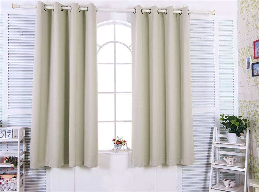 """96"""" Tripoli Premium Solid Insulated Thermal Blackout Grommet Window Panels in Oyster - Elegant Home Fashions WC-CHB02-96"""