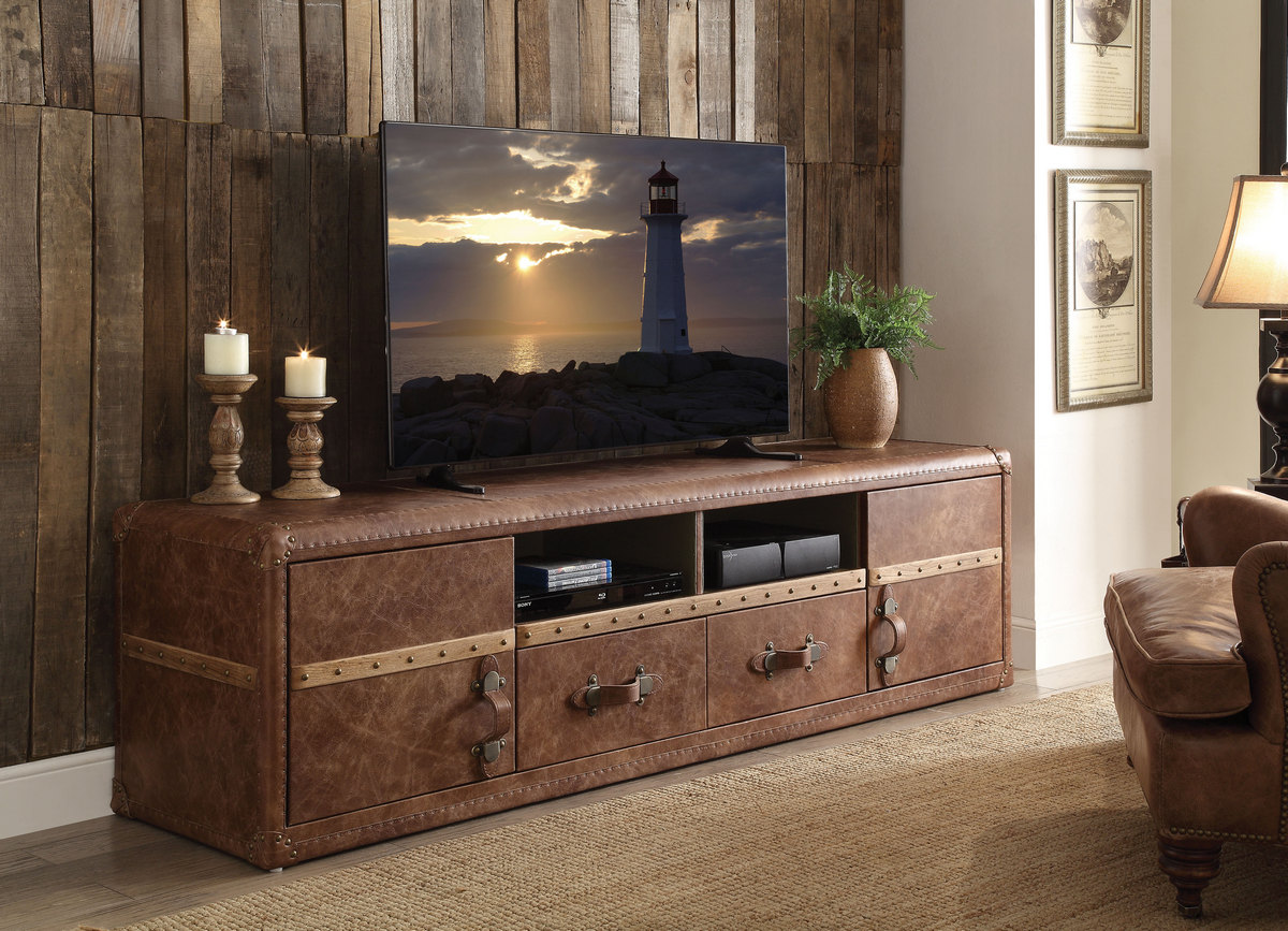Aberdeen TV Stand in Retro Brown TGL - Acme Furniture 91500