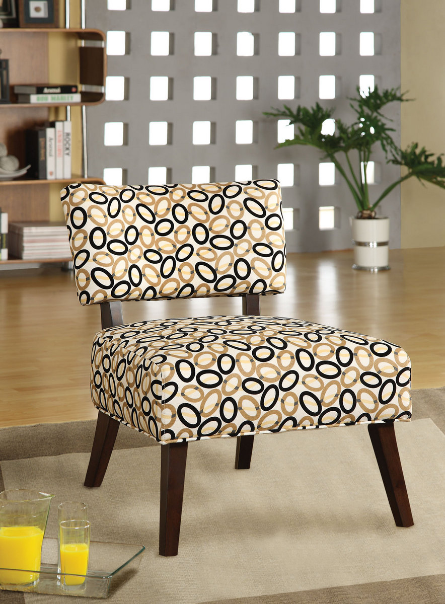 Able Accent Chair in Fabric & Espresso - Acme Furniture 59073
