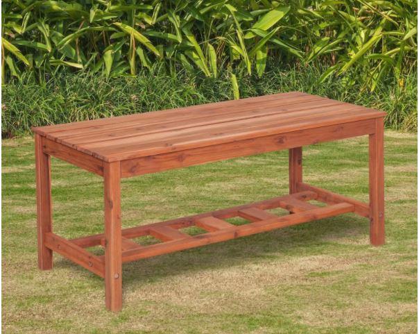 Acacia Wood Ladder Base Coffee Table In Brown Walker Edison Owlbctbr