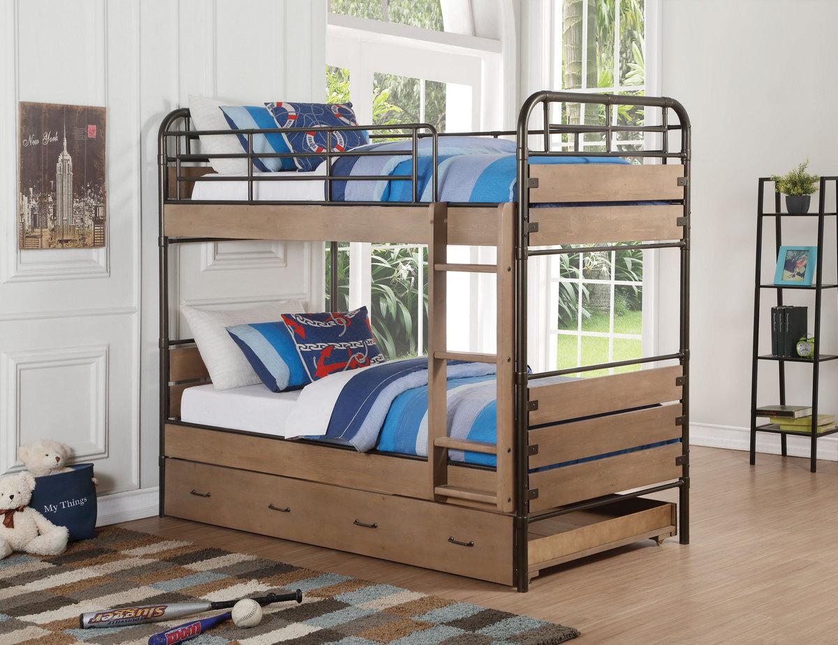 Adams Twin Bunk Bed Trundle