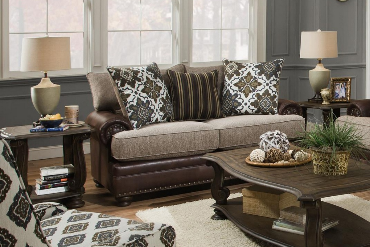 Chelsea Home Adeline Loveseat Yellowstone Chocolate