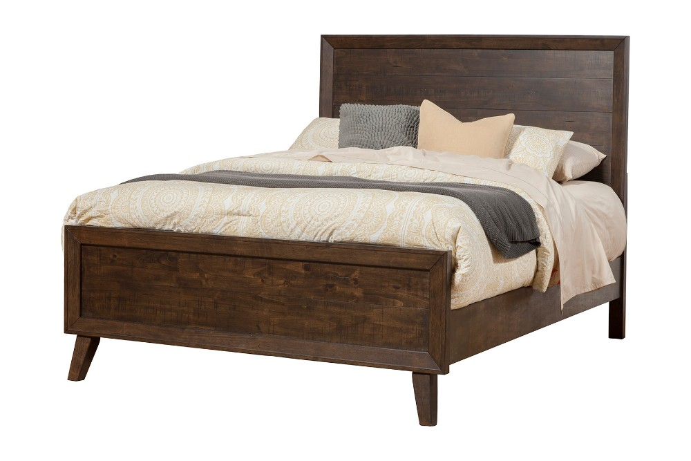 Alcott Queen Panel Bed - Alpine Furniture 5074-01Q