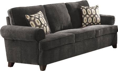 Acme Sofa Pillows Dark Gray Chenille