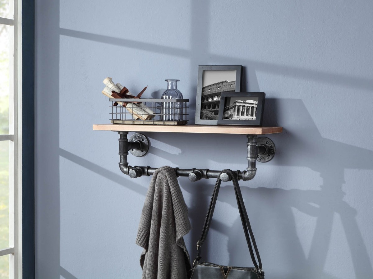 Allentown Shelf Piping w/ Clothes Hooks - 4D Concepts