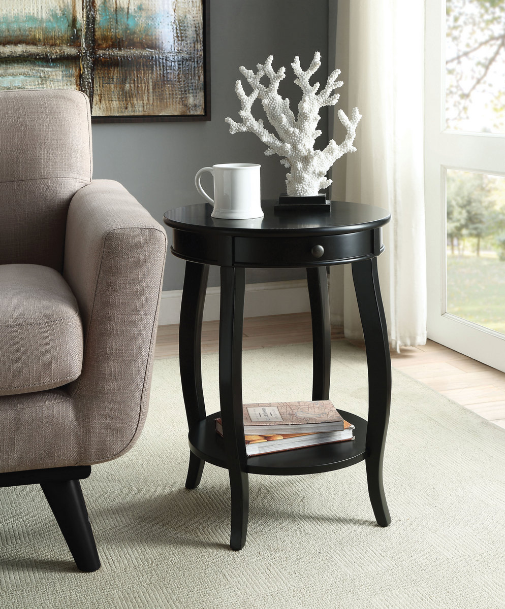 Alysa End Table in Black - Acme Furniture 82812