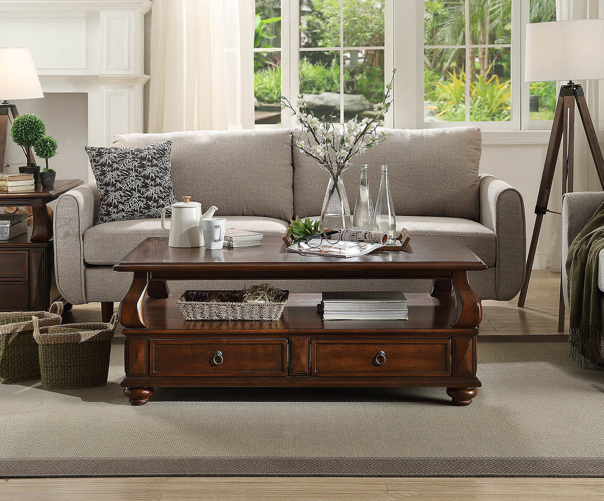 Amado Coffee Table in Walnut - Acme Furniture 80010