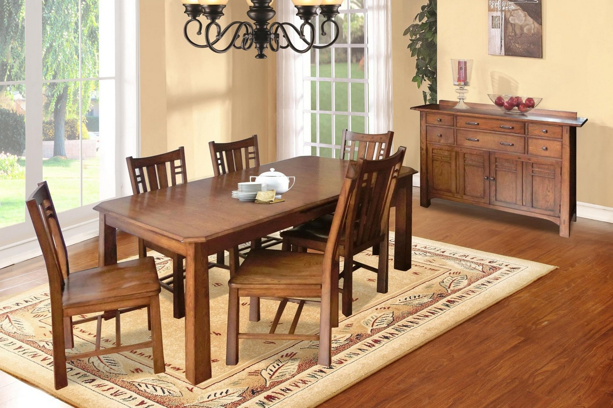 Dining Set Burnished Walnut