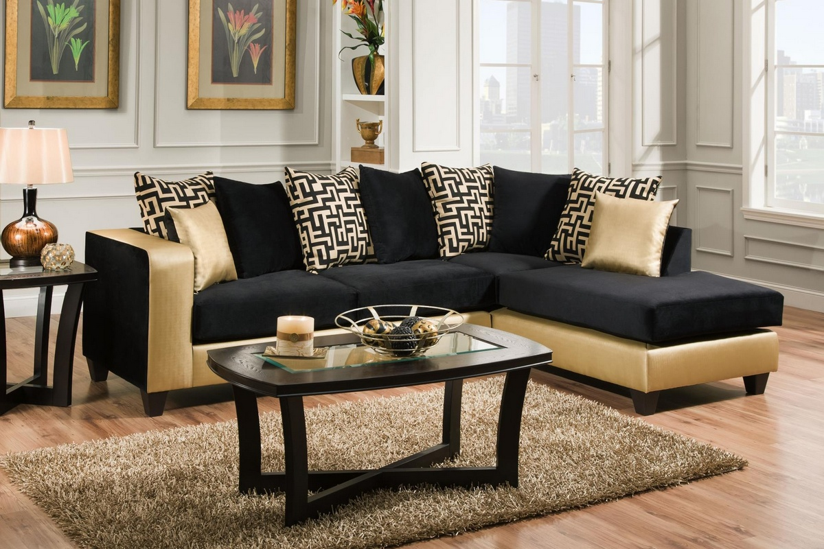 Chelsea Home Sectional Shimmer Gold