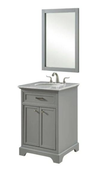 Elegant Lighting Single Bathroom Vanity Set Light Grey