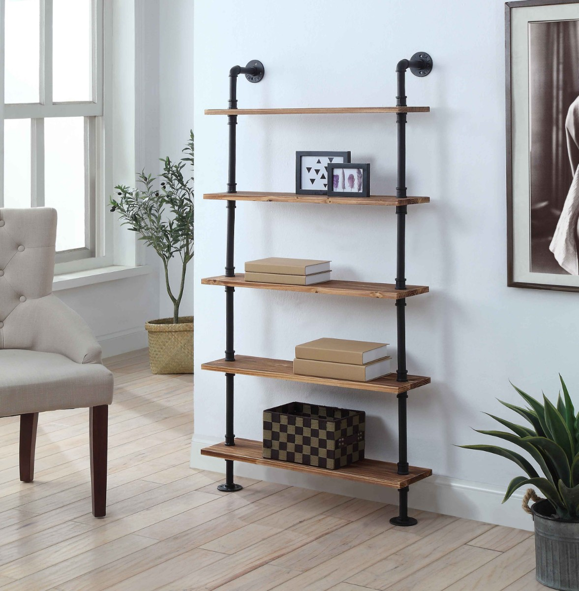 Anacortes Five Shelf Piping - 4D Concepts