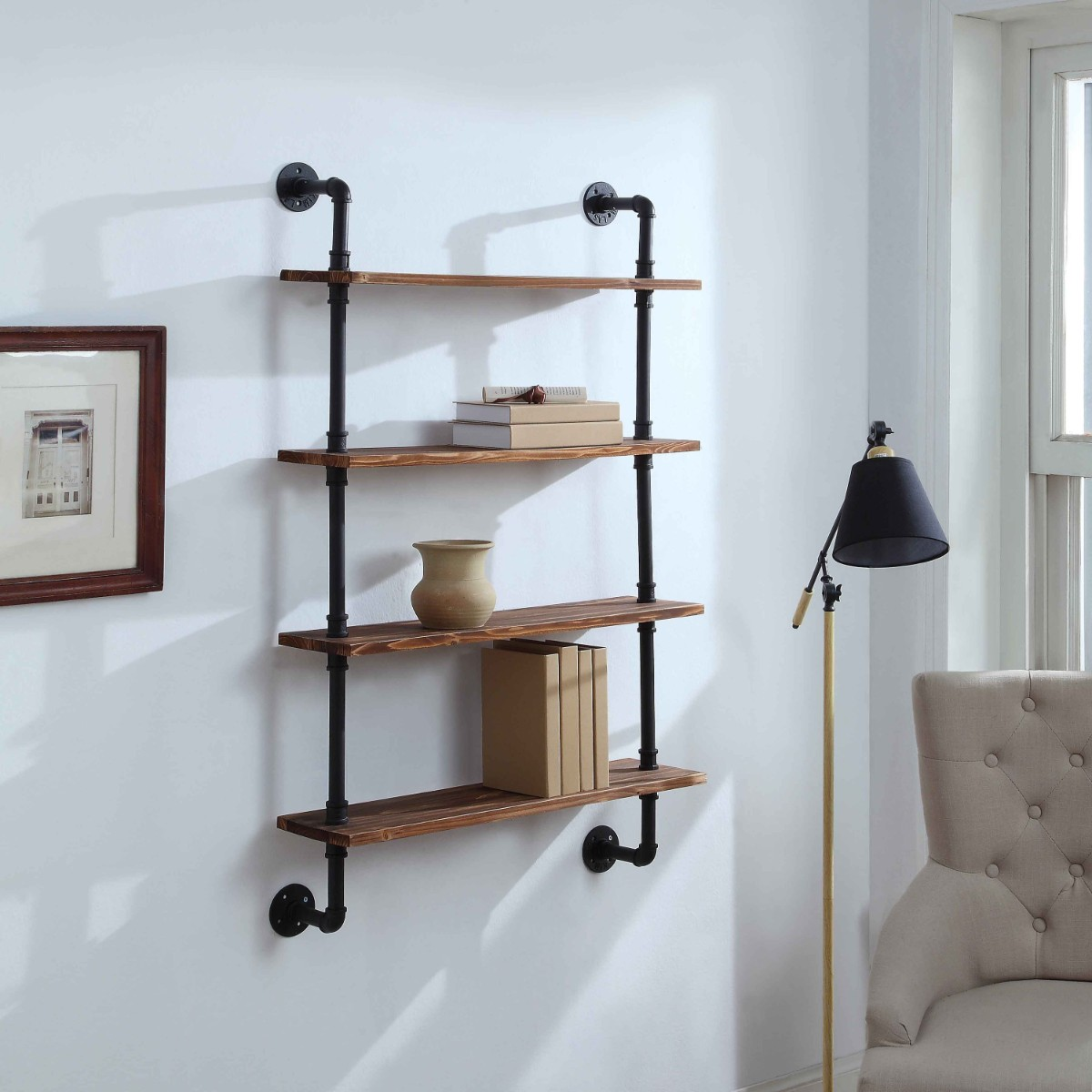 Anacortes Four Shelf Piping - 4D Concepts