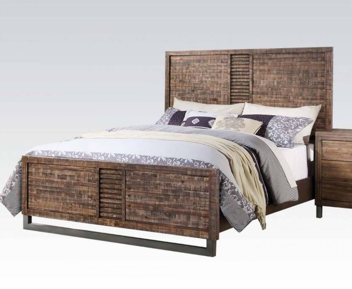 Andria Eastern King Bed in Reclaimed Oak - Acme Furniture 21287EK