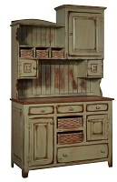 Chelsea Home Annies Two Tone Antiqued Hutch Baskets