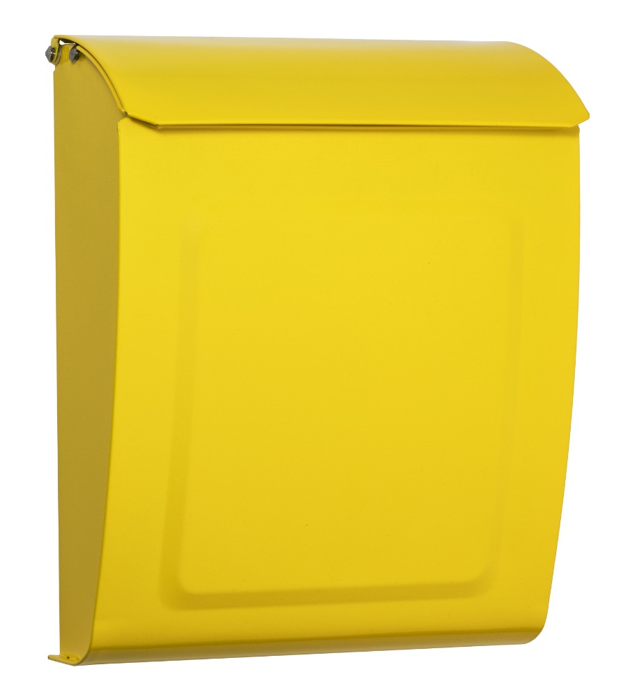 Aspen Locking Wall Mount Mailbox Yellow - Architectural Mailboxes 2594Y
