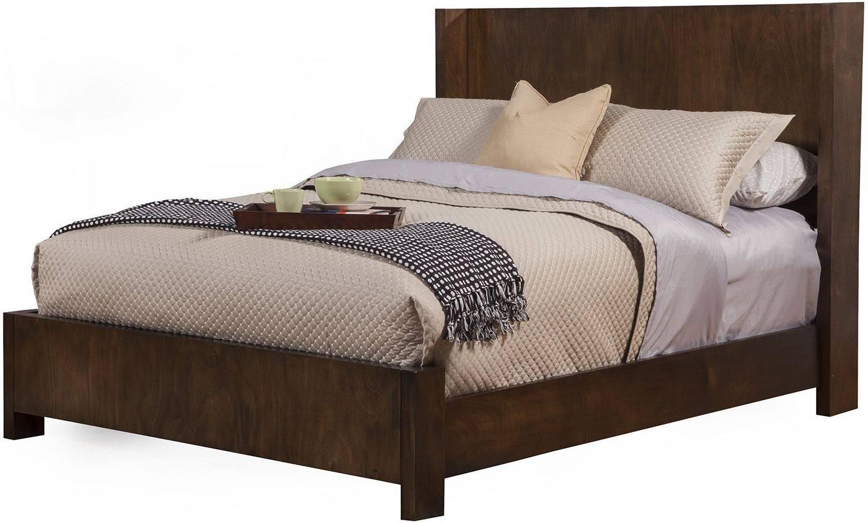 Austin Standard King Shelter Panel Bed - Alpine Furniture 1600-07EK