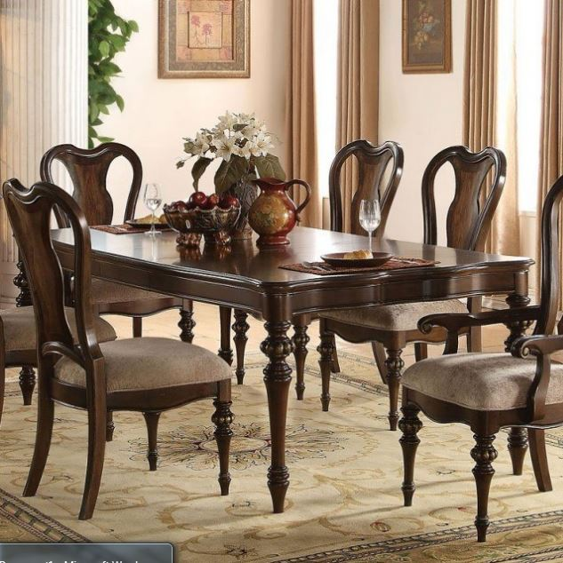 Acme Azis Dining Table Only Dark Walnut