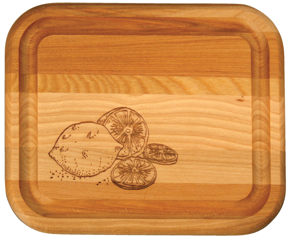 Bar Board w/ Branded Lemons - Single - Catskill Craftsmen 13291