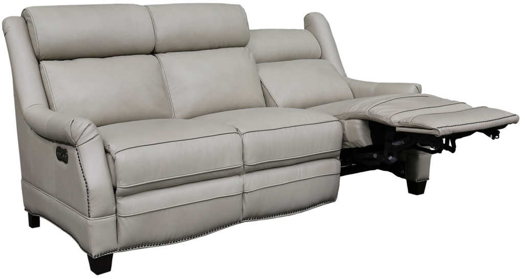 Barcalounger Power Reclining Sofa Power Head Rests Shoreham Cream All Leather