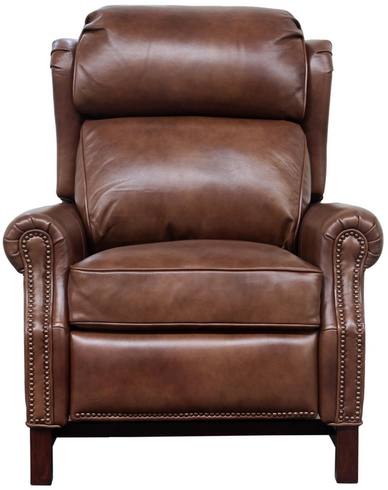 Barcalounger Thornfield Recliner Wenlock Tawny All Leather