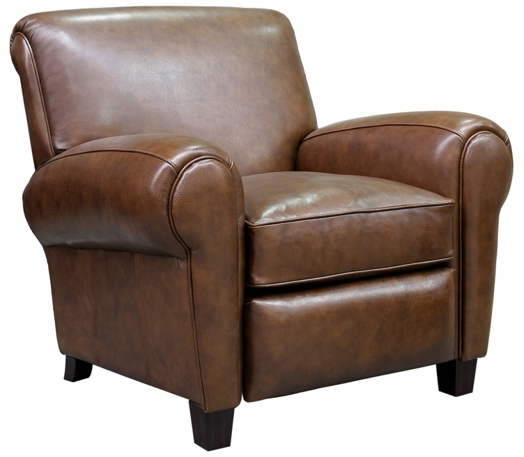 Barcalounger Edwin Recliner Wenlock Double Chocolate All Leather