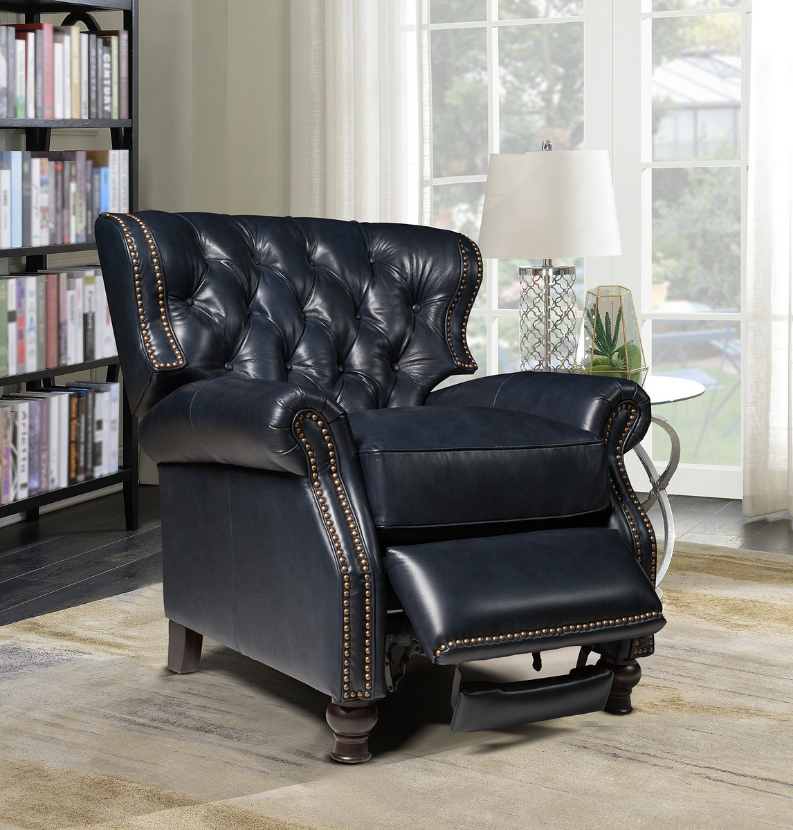 Barcalounger Presidential Recliner Shoreham Blue All Leather